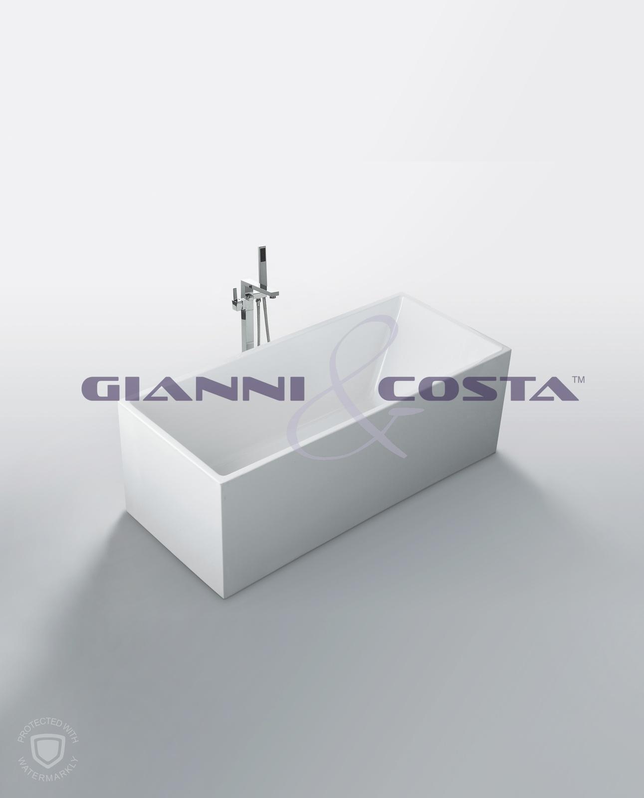 Acrylic Free Standing Bath Tub Model Santina CG1050 1600mm