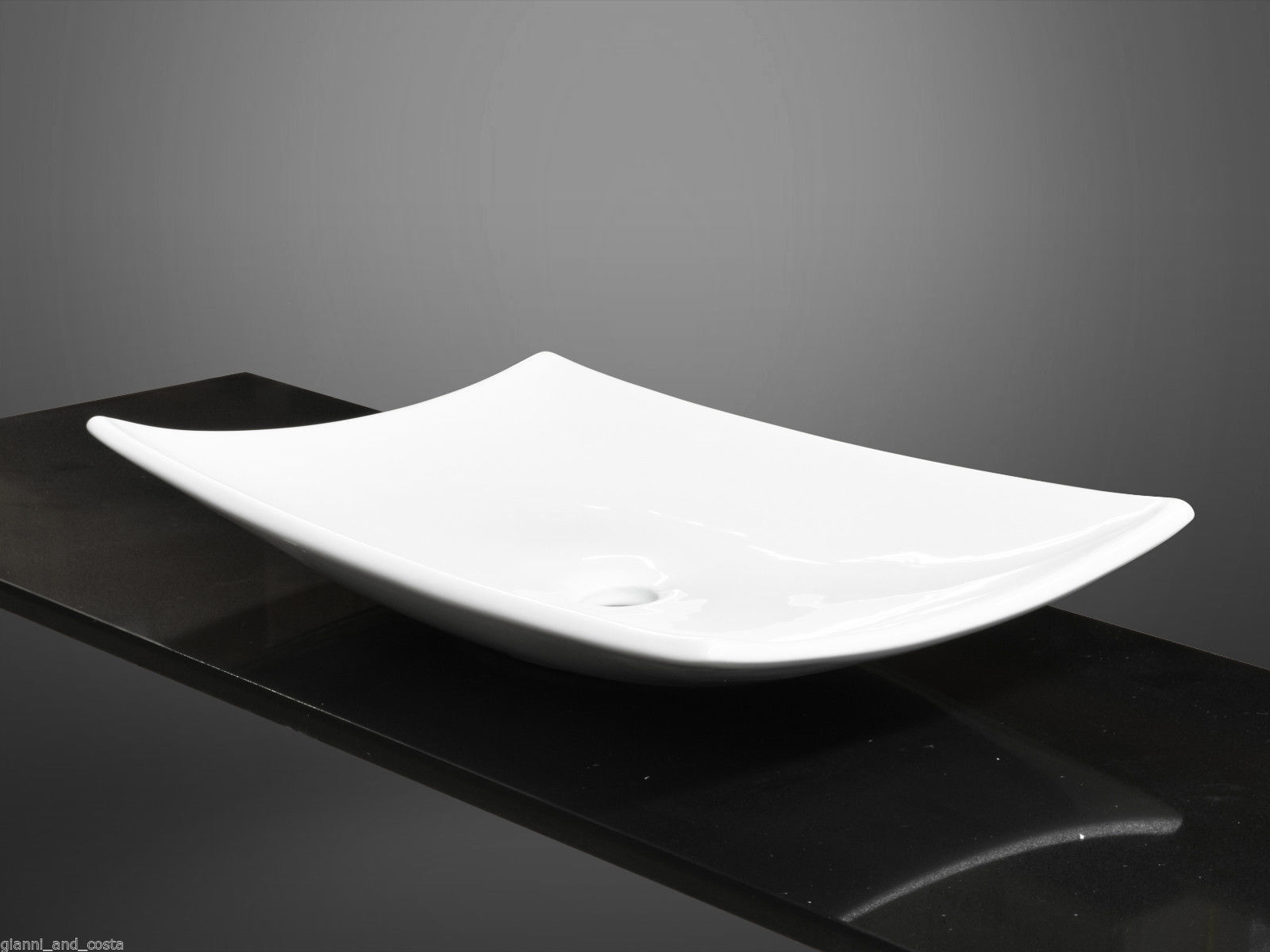 CERAMIC RECTANGULAR ABOVE COUNTER TOP BASIN VANITY INCLUDE POP UP WASTE