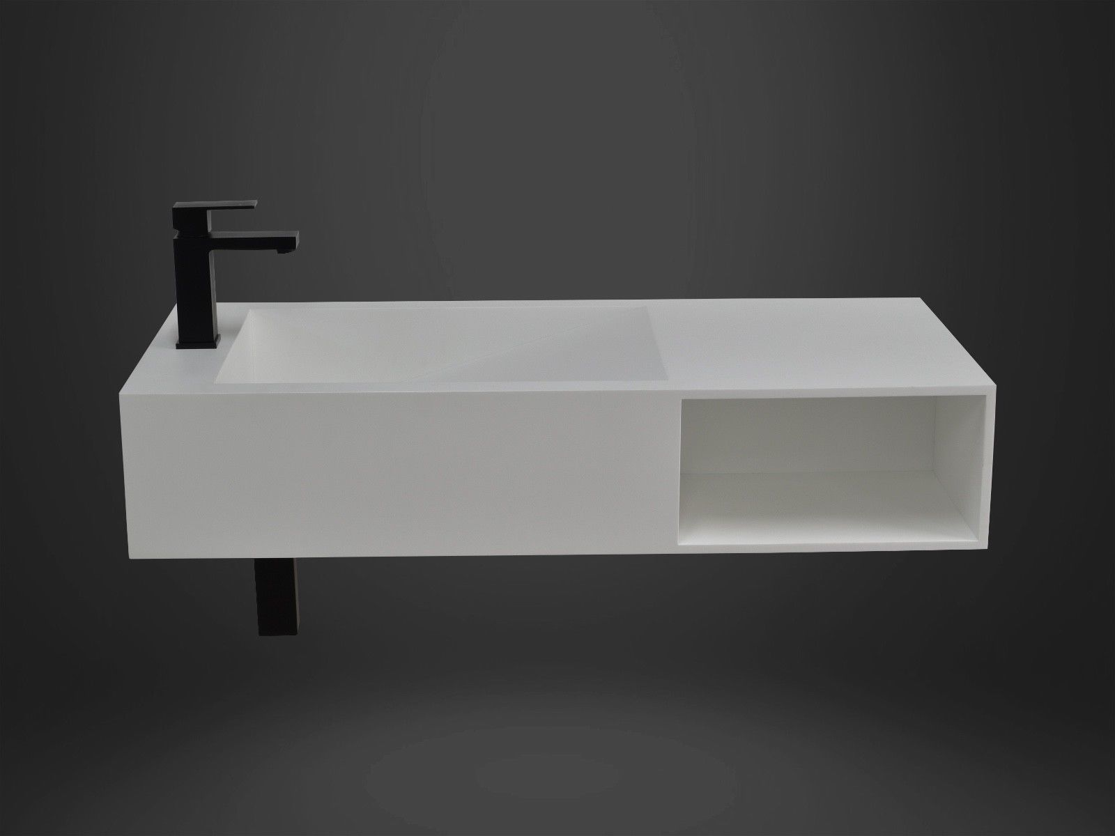 Bathroom 1000mm Wall Hung Basin Vanity - Stone - Solid Surface