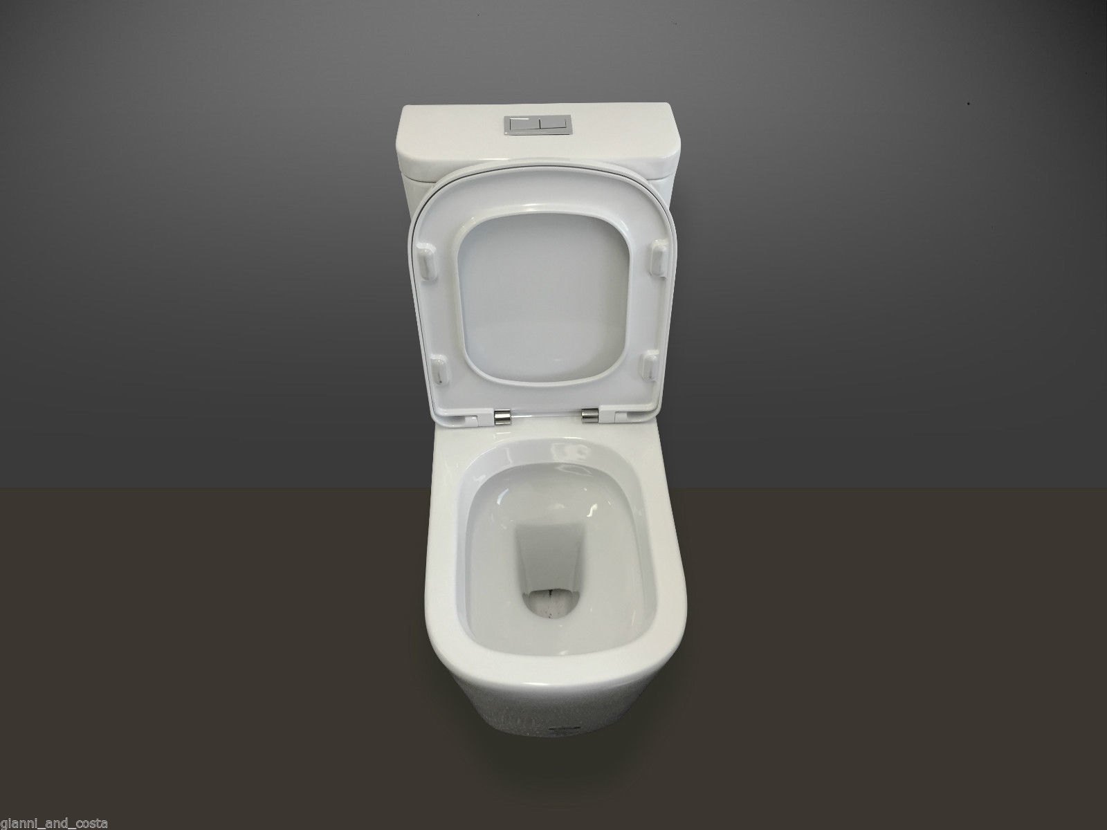 Ceramic Toilet Suite Back to Wall Model Lucca GC89B S-Trap 70-170mm