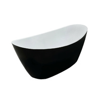 Acrylic Free Standing Bath Tub - Black - Model Aphrodite 3 Sizes Available