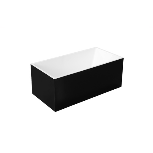 Acrylic Free Standing Bath Tub - Black - Model Santina GC6816 1500mm