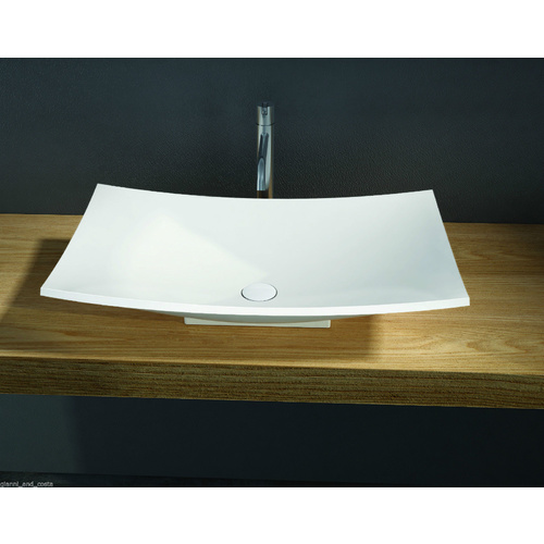 ABOVE COUNTER TOP BASIN - STONE - SOLID SURFACE - MATT FINISH